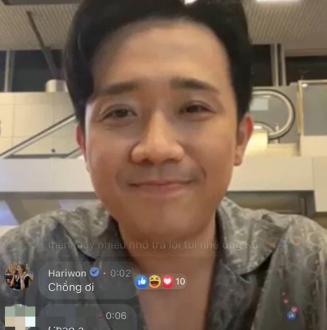 Trấn Thành livestream giao lưu, Hari Won bất ngờ vào khóc lóc vì lý do này
