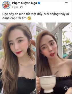Quỳnh Nga vừa đăng ảnh xinh tươi, Việt Anh đã lập tức có mặt để thả thính