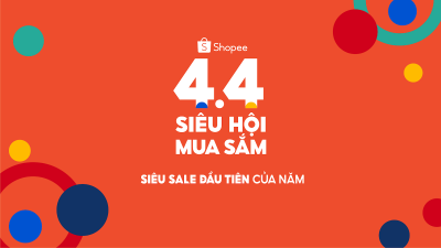 Shopee khởi động siêu sale đầu tiên của năm trên toàn khu vực với 4.4 Siêu Hội Mua Sắm